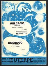 SERIE TANGHI # VULCANO - LODOLETTA - DOMINGO - SPARTITO