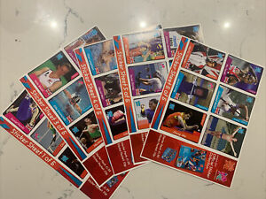 5 Panini London 2012 Oympics Promo Sheets, All Different