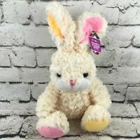 Animal Adventure Colorful Blossom Bunny Plush Waffle Fur Stuffed Rabbit Toy