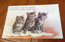 OLD POSTCARD. Kittens. Cute. Oilette Posted