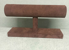 Single Tier Bangle/Bracelet Stand Brown Suede