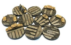 40mm War Zone Trench, resin bases, Sci-fi fantasy DKK Qty5-25 unpainted