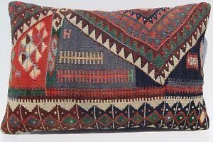 "Kurdish Herkhi 24""x16"" Handmade pillow covers Home decoractive kelim area rugs"
