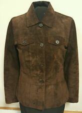 Apostrophe Women's Genuine Leather Jacket Coat Brown Size 4 Free Shipping