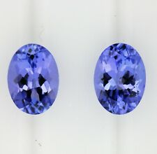 TANZANITE 1.73ct! MATCHING PAIR NATURAL EXPERTLY FACETED IN GERMANY +CERT