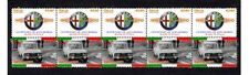 ALFA ROMEO CENTENARY STRIP OF 10 VIGNETTE STAMPS, BERLINA 2000 1