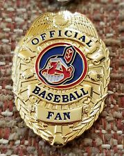 CLEVELAND INDIANS OFFICIAL BASEBALL FAN BADGE PIN