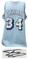 Shaquille O'Neal Signed LA Lakers Mitchell & Ness Blue Stripe NBA Jersey - SS