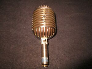 (1) Very Nice Complete 1940's Shure 55 Elvis FatBoy Microphone