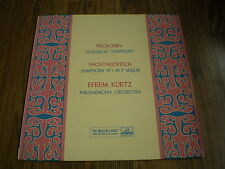 PROKOFIEV / SHOSTAKOVITCH - CLASSICAL SYMPHONY / SYMPHONY No 1 LP HMV 1959 EX