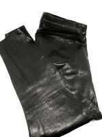 NEW, J BRAND SKINNY MOTO BLACK LEATHER PANTS, 30, $1250