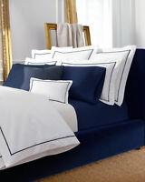 RALPH LAUREN PALMER blanc navy taie d'oreiller pillow case 75 * 50 cm logo brodé