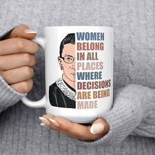 Ruth Bader Ginsburg Mug Notorious Rbg Ceramic Cup Women Belong In All Places