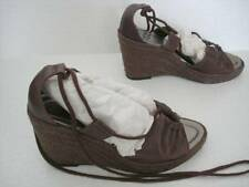 SIZE 5 Leather platform wedges / sandals worn once NEW LOOK