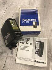 PANASONIC PE-145 FILM CAMERA FLASH GUN with ORIGINAL BOX VERY GOOD CONDITION