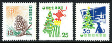 Korea 265-267, MNH. Issued for Christmas and New Year, 1957