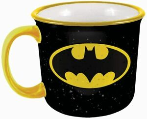 Batman 21503 Logo Camper Coffee Mug Tea Cup 14 oz Ceramic Black