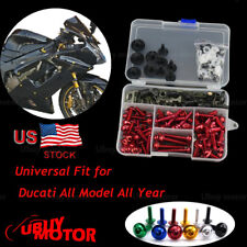 CNC Complete Fairing Bolt Screws Kit For Ducati 916 1994-1998 996 1999-2002 Red