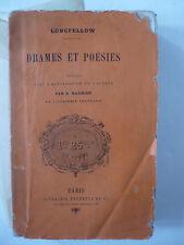 LONGFELLOW. Drames et poésies. Edition originale - 1872