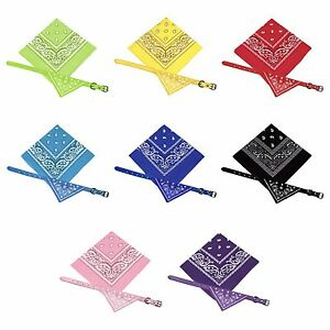 Small Dog Bandana Collar with FREE Matching Owners Bandana (Various Colours)