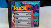 Rock On 1987 Top 40 Chartbusters Original Artists Trivia Booklet Included cd2874