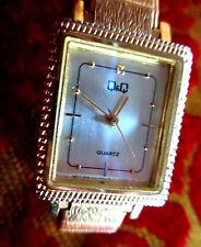 Q&Q By Citizen Goldtone Steel Analog Rectangle Quartz Watch DEAD BATTERY 30 Day