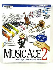 Music Ace 2 CD-ROM Windows, Macintosh, Teach Music Piano Lessons - BRAND NEW!