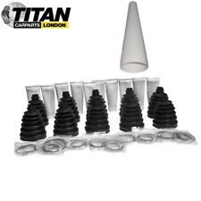 10x Universal CV Joint Boot Kit Gaiter With Grease, Clamps And Cone Brand New