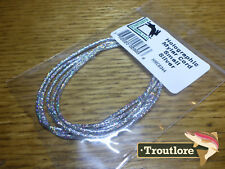 SILVER HOLOGRAPHIC MYLAR CORD SMALL NEW HARELINE DUBBIN HOLO FLY TYING MATERIAL