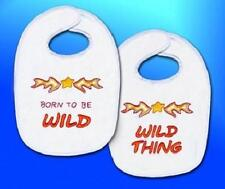 Born To Be Wild And Wild Thing Baby Bibs Embroidery Kit 2 Designs Crafts