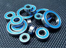 Doble Metal Goma Sellado Cojinete de Bolas (Azul) Para Tamiya M-02/M02 Chasis