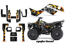 ATV Graphics Kit Quad Decal Sticker Wrap For Kawasaki Bayou 250 03-11 MOTOHD BLK