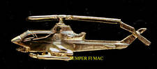 AH-1 HUEY COBRA GOLD LAPEL HAT XL PIN MADE IN US ARMY WING PILOT CREW GIFT WOW