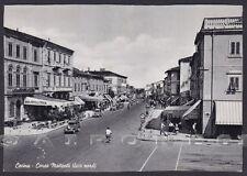 LIVORNO CECINA 16 BANCA PASTICCERIA GELATI Cartolina viagg 1955 !!! RIFILATA !!!