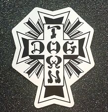 Dogtown Black/White Cross Skateboard Sticker LARGE 6in x 5in si Dog Town