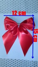 Large Satin Ribbon 60 mm Bows 12x15 cm Cards, Decorations, Christmas, Red, Blue