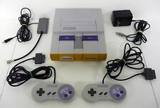 SUPER NINTENDO SNES CONSOLE Video Game System + 2 Controllers COMPLETE & TESTED