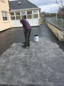 Imprinted concrete coloured driveway paint pattern imprint 20 ltr CHARCOAL GREY.