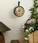 Station Clock Double Sided Functional Clock Home Decor Wall Clock