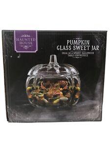 Halloween Pumpkin Glass Sweet Jar Haunted House Table Decorations Centrepiece