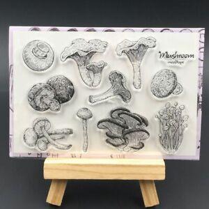 Mushroom Transparent Silicone Stamps For DIY Scrapbooking Decorative Sheet