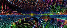 UV Fluoro Backdrop 0.6x1.5M Trippy Psychedelic Wall hanging blacklight tapestry