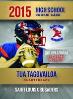 (3) -TUA TAGOVAILOA 2015 HIGH SCHOOL GOLD ROOKIE CARD 2000 MADE ALABAMA!🔥🔥🔥🔥