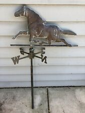 "Antique Copper Galloping Horse Weathervane - 28"" Long  — Some Restoration Needed"