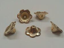 CCB Style Acrylic Flower Bead Caps, Golden, 21x19x9mm, Hole: 1mm Qty 5 Bead Caps