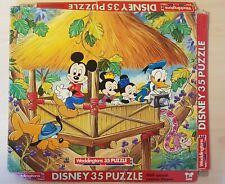 Vintage Walt Disney 35 Piece Jigsaw Puzzle By Waddingtons #00372 Micky Mouse