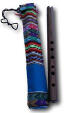 De Madera Andina Quena Jacaranda Flauta con un decorado Bolsa Protectora