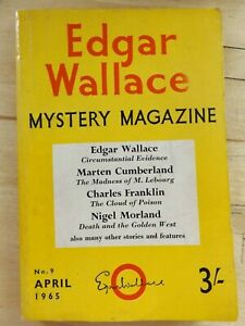 Edgar Wallace Mystery Magazine No. 9 April 1965.  Includes Crossword