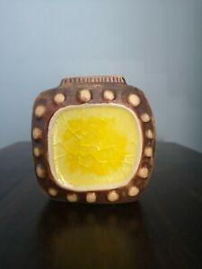 Retro style Jonathan Ardler glass menagerie pottery vase. Yellow