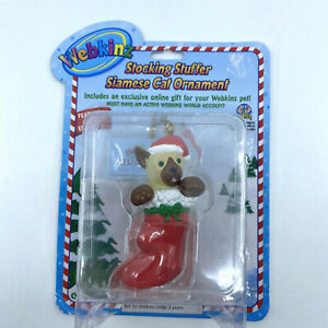 New Webkinz Ornament Stocking Stuffer Siamese Cat Christmas Toy with Online Code